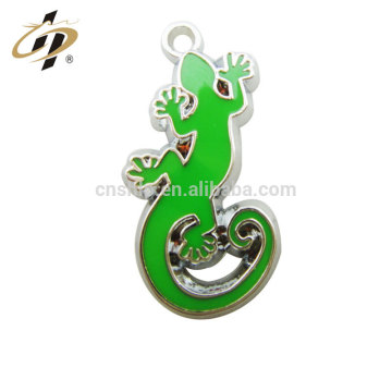 Casting soft enamel animal metal gecko charm pendants in custom