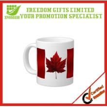 Publicidad de la taza de cerámica barata de encargo de la venta caliente