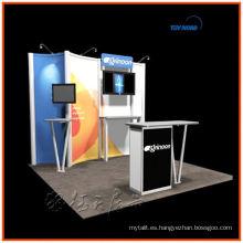 fácil de instalar y plegable, moderno y mejor precio para el stand de exhibición