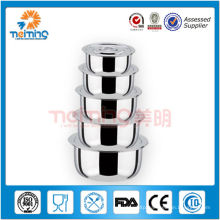 as seen on TV--10pcs stainless steel stock pot