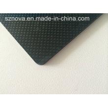 Material reforçado laminado de tecido de carbono 3k