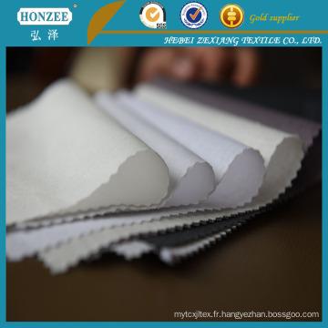 Résine d'interlignage de polyester et de coton spécial pour le collier de chemise