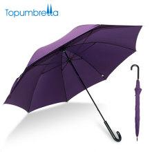 L'Oreal zertifizierte Fabrik 23 Zoll beste Fiberglas Leichte gerade lila Regenschirm