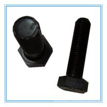 Parafuso de cabeça sextavada com acabamento preto DIN558 - Grau de produto C