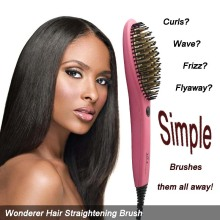 2017 New Wonderful Straightener Hair Brush