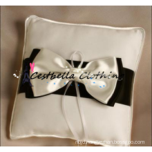 2015 Newest bridal accessory bow ring pillow stain ring pillow white pillow wedding ring bearer pillow