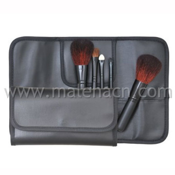 5PCS Travel Makeup Brushes with Black Cosmetic Bag