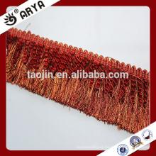 Deslizamento de estoque Curtain Fringe Trimmings para têxtil doméstico