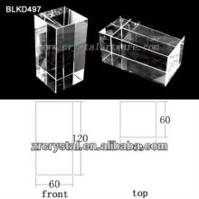 K9 Leer Crystal für 3D Lasergravur BLKD497