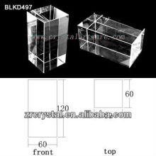 K9 Blanc cristal pour BLKD497 de la gravure de Laser 3D