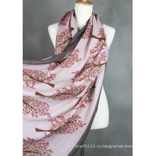 Дамы моды печатных вискоза шарф (YKY1023-1)