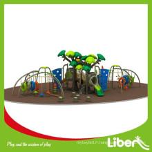 Parc d'attractions grand terrain en Chine Aire de jeux extérieure avec structures d'escalade
