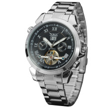 Wholesale fashion 316l stainless steel mens auto-mechanical date window watch