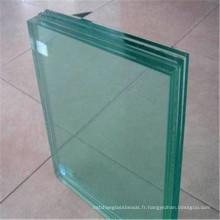 Verre de miroir de 6mm, verre de fenêtre, verre feuilleté gâché pour la décoration