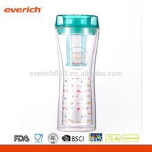 Wholesale Tea Infuser Glasses Double Wall Cup