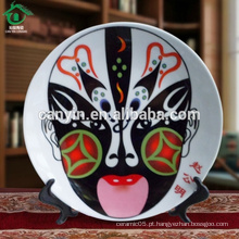 Estilo chinês prato de queijo de cerâmica de estilo chinês para decoração de casa