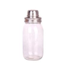 Glassware OEM 500ml Glass Mason Jar Cocktail Shaker