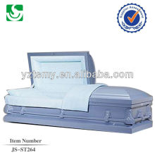 JS-ST264 Light purple unique steel caskets