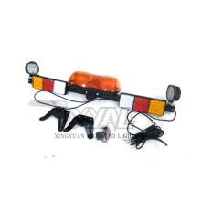 12V / 24V Minería Picking Remolque Ámbar LED Señal de advertencia de emergencia Seguridad Rotación Estroboscópica Parpadeo Lightbar con luz de trabajo