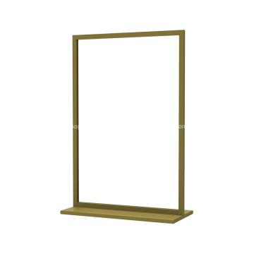 Présentoir de plancher à double face à cadre carré