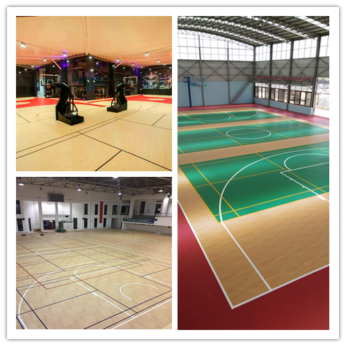 classical project of basketball flooring