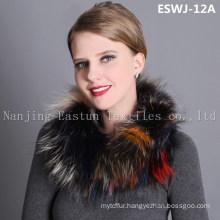 Natural Fox Scarf Eswj-12A