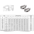 Forged Galvanized G-411 US Type wire rope thimble