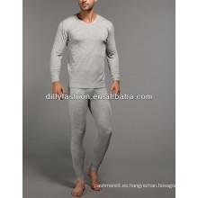 ropa interior de cachemir de los hombres de invierno largo súper suave