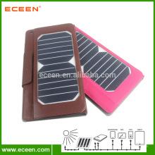 Bolsa de couro para Ipad e telefone saco de carregador solar