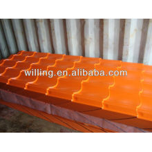 0.3-0.6mm colorful coated steel roof tile sheet OEM service