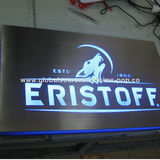 Pub Sign Box, Made of Acrylic, Brush Panel Surface, LED Light Up for Branding, Dimmer for Adjustable