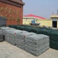 2 × 1 × 1 m Gaiola de caixas de gabião com revestimento galvanizado pesado