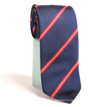 Cravates chinoises à rayures tissées de polyester de cravate de haute qualité