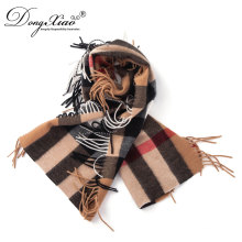 Most Popular Products Women Checked Cashmere Scarf For Factory Wholesale