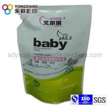 Größe Customized Stand up Liquid Spout Tasche für Waschmittel