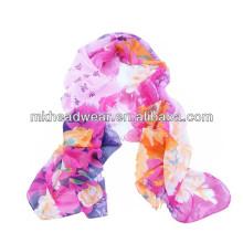 Nueva bufanda de seda viscosa de la impresión