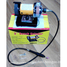 "75mm 3"" 150W Power Portable Rotary Surface Grinder Electric Mini Bench Grinder (GW8062)"