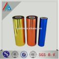 Color revestido metalizado PET Twist Película / color película de laminación / película de revestimiento de color