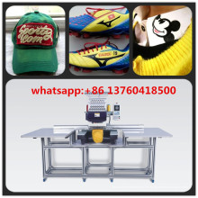 Big Area Single Head Stickerei Maschine für Cap / Schuhe / flache Stickerei mit Porzellan Top-Qualität