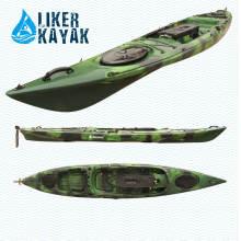 Solo PE Roto Moldeado Pesca Kayak pedal Timón Control Disponible con motor a manos libres