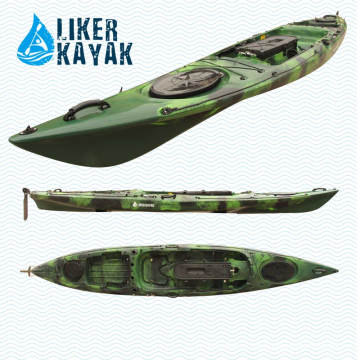 Single PE Roto geformte Fischen Kajak Pedal Ruder Control mit Motor zu freien Händen zur Verfügung