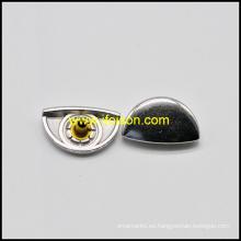 Media vuelta botón de broche de presión de Metal de forma