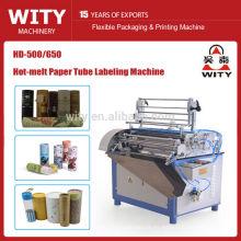 Máquina automática de etiquetado de latas de papel