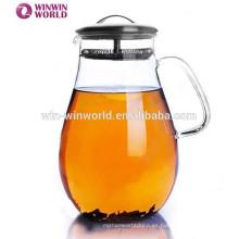 Jarra creativa del filtro de agua del vidrio de consumición de los nuevos productos con la tapa