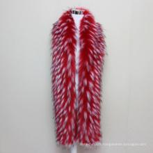2017 Fashion Jacquard fourrure de vison accessoire Winterwoman fourrure écharpe