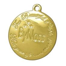 Gold Metall Hang Tag Charms mit eingraviertem Logo