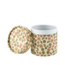 Custom CMYK Cardboard Round Box with Rolled Edge