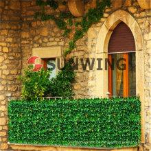 Garten künstliche Zaun Blatt Kunststoff synthetische Hedge Buchsbaum Matte Wir akzeptieren auch OEM, pünktliche Lieferung und Qualitätssicherung.
