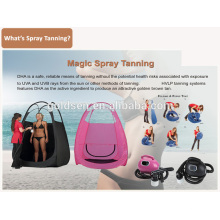 Home Mini Skin Bronzage Système de machine à lit Handheld HVLP Spray Tan Gun Portable Professionnel Indoor Body Sunless Spray Bronzage