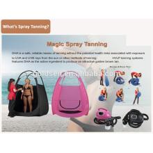 Главная Mini Skin Tanning Bed Machine System Ручной HVLP спрей Tan Gun Портативный Профессиональный Indoor Body Sunless Spray Tanning